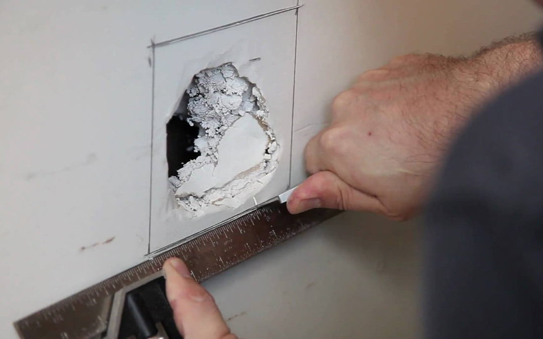 Some helpful tips for repairing small and large holes in your drywall